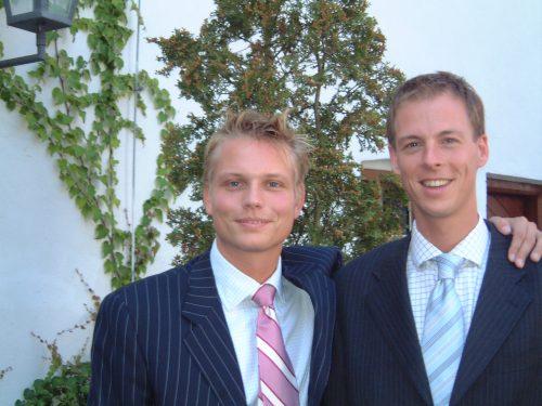 Jan en Oskar in 2003_homostel_ouderschap
